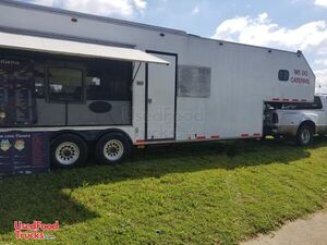 2007 - 8' x 38' Kitchen Concession Trailer with Bathroom and Living Quarters.
