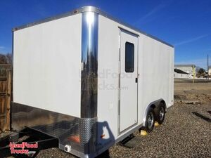 2019 - 8.5' x 17' Empty Food / Retail Concession Trailer Condition.