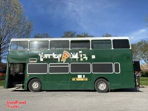 Turnkey Business 33' Leyland Olympian Double-Decker Bustaurant Pizza Truck.