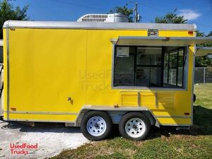 2005 7.5' x 14' Licensed Commercial Mobile Kitchen Food Concession Trailer or Sale.