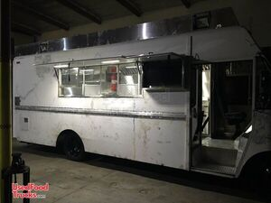 Stainless Steel Chevrolet P30 Diesel Step Van Permitted Kitchen Food Truck.