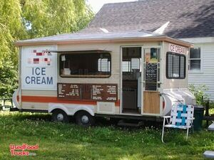 Inspected and Licensed 7' x 14' Ice Cream Vending Concession Trailer.