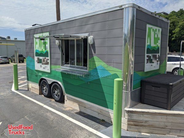 2019 Anvil 7FY 8.5' x 18' Coffee and Espresso Trailer with Restroom.