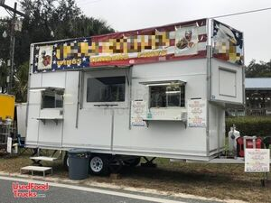 Lightly Used All Aluminum 2019 8' x 18' Kitchen Food Concession Trailer.