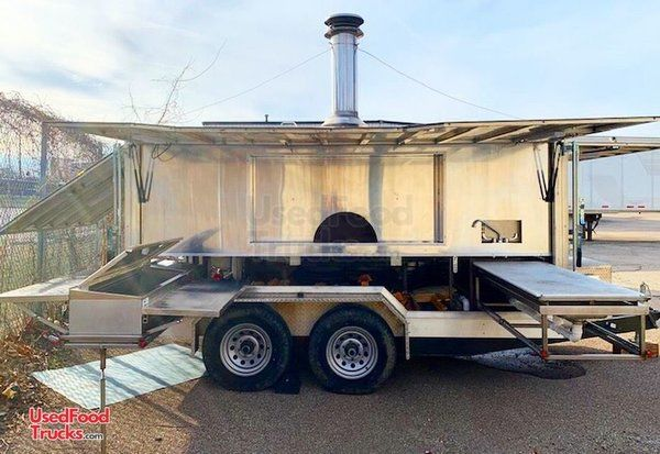 Turnkey State-of-the-Art 2017 8' x 12.5' Wood-Fired Pizza Trailer.