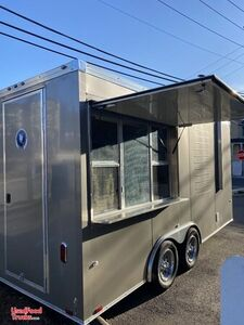 Like-New 2020 Worldwide 7' x 16' Commercial Kitchen Concession Trailer.