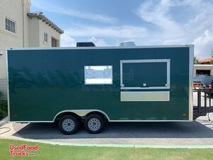 Beautiful Emerald Green  2021  - 8.5' x 20' Food Vending Concession Trailer.
