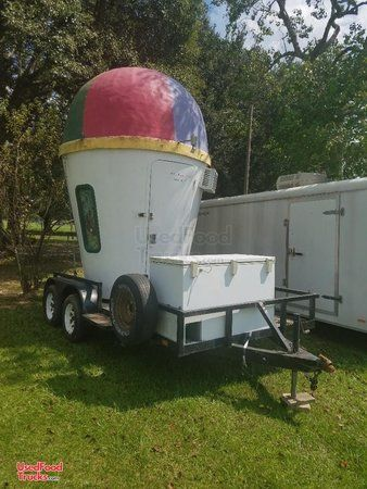 8' x 14' Shaved Ice Concession Trailer.