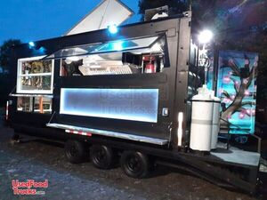 2018 - 8.5' x 25' Shipping Container Food Trailer w/ Custom Order Kitchen.
