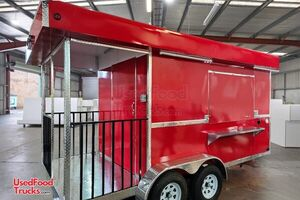 Brand New 2020 - 8' x 16' Food Concession Trailer w/ Porch.