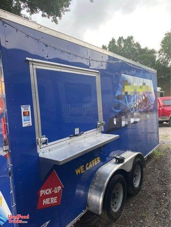 Turnkey Fully Licensed and Loaded 2019 - 8' x 16' Kitchen and Catering Food Trailer.