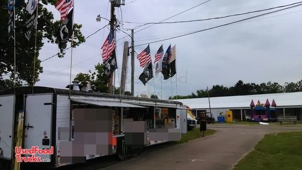 Ready to Go 8' x 32' Pace America Mobile Kitchen Food Concession Trailer.