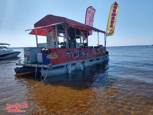 Complete and Ready to Work Great American Concession Pontoon Food Boat.