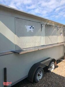 2018 - 7' x 16' Used Mobile Kitchen / Ready to Go Food Concession Trailer.