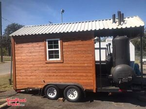 2020 - 16' Cedar Barbecue Concession Trailer with Porch / Mobile BBQ Unit.