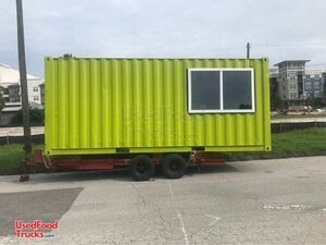 20' Shipping Cargo Container Basic Food Concession Trailer Conversion.