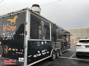 2017 - 8' x 38' Freedom BBQ Food Concession Trailer with Restroom / Mobile Kitchen.