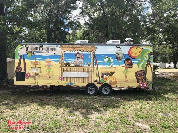 8.5' x 27' Food Concession Trailer with Truck.